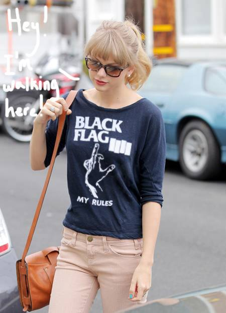 Taylor Swift Black Flag tshirt