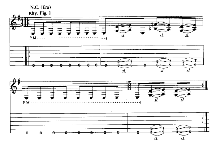 from a transcription published in 1988 by Cherry Lane Music Company, copyright owned by Creeping Death Music