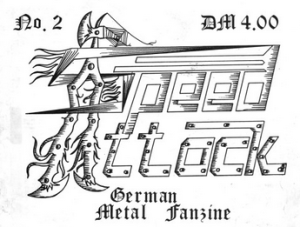 Logo from the cover of Speed Attack #2 (1985). For the whole of issue #1, see