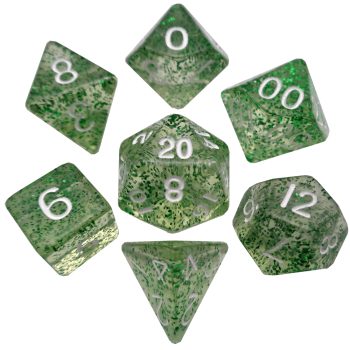 Ethereal Green Poly Dice Set