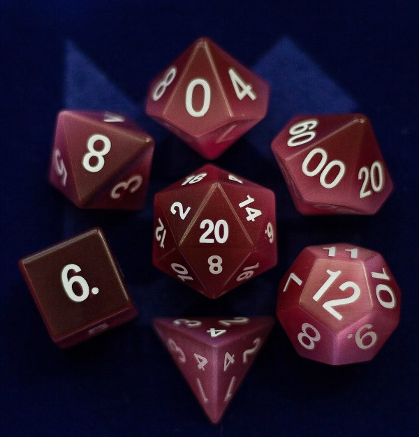 Cat's Eye Pink:Full-Sized 16mmPolyhedral Set