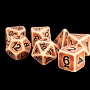 Light Antique 16mm Poly Dice Set