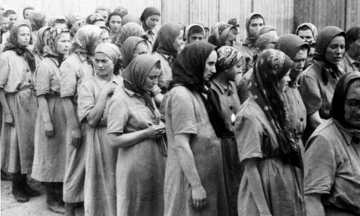 Captured women in Germany.