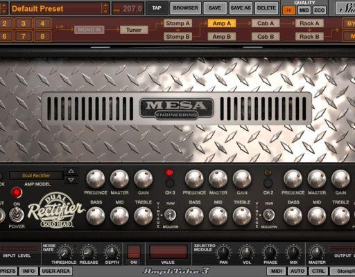 Amplitube Mesa dual metal amp sim