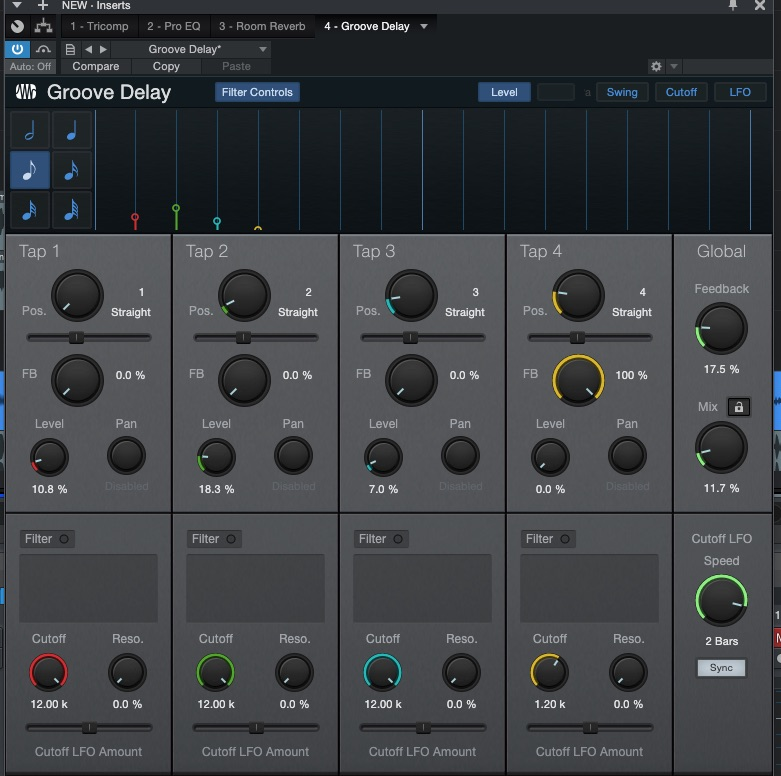 Studio plugins delay
