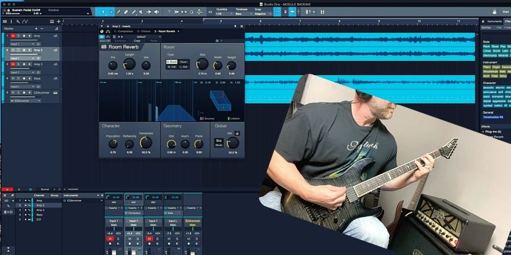 adding effects to recorded guitar tracks