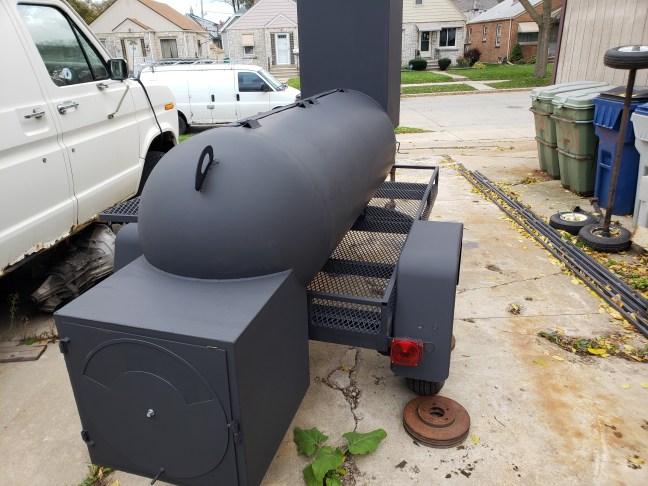 Trailer smoker build