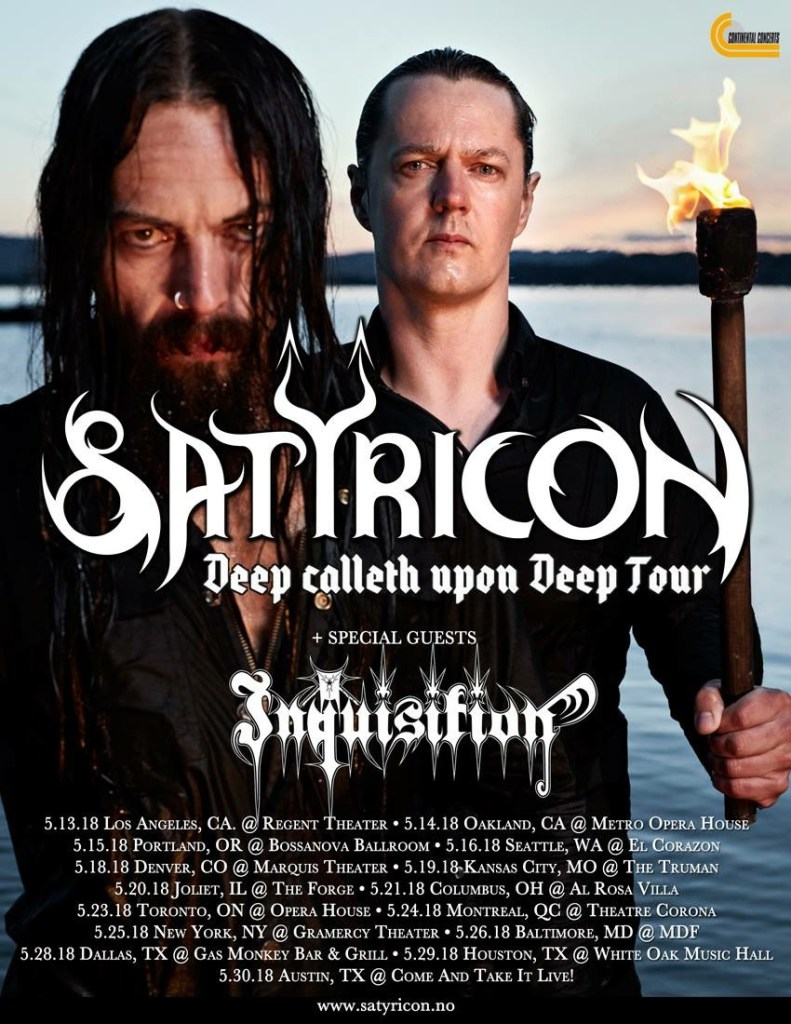 Satyricon Announce North American Tour