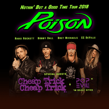 Poison Nothin' But A Good Time Tour 2018