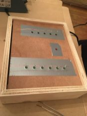 Assembling binary clock prototype with LEDs