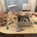 Assembling binary clock prototype