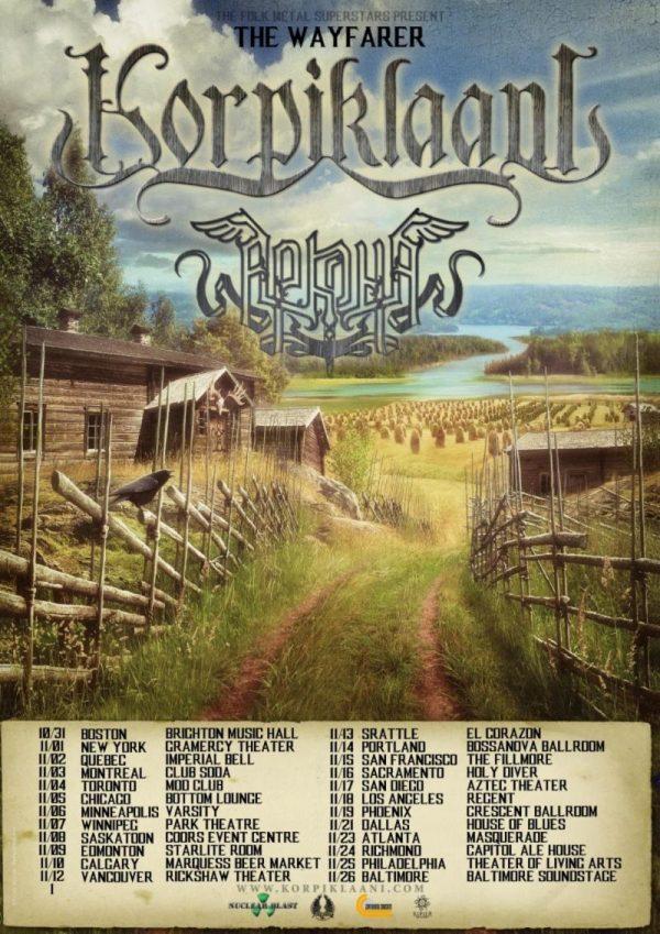 Korpiklaani tour poster