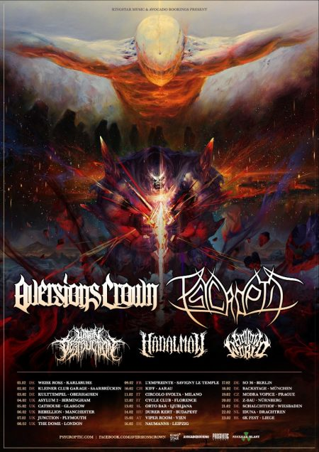 Aversions Crown Psycroptic tour