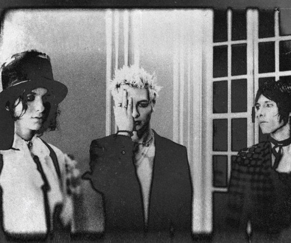 Band Press Photo, Black & White, White Room, Glass Doors