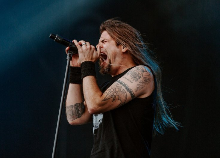 Todd La Torre of Queensryche singing at Bloodstock.