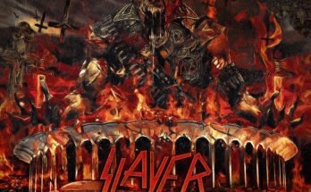 Slayer Repentless Killogy album cover image featuring a zombie in military uniform, lots of explosions and a huge SLAYER logo.