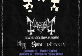 Mayhem Auz - GIG REVIEW: Mayhem, Bölzer, Départe & Ruins Live at The Triffid, Brisbane