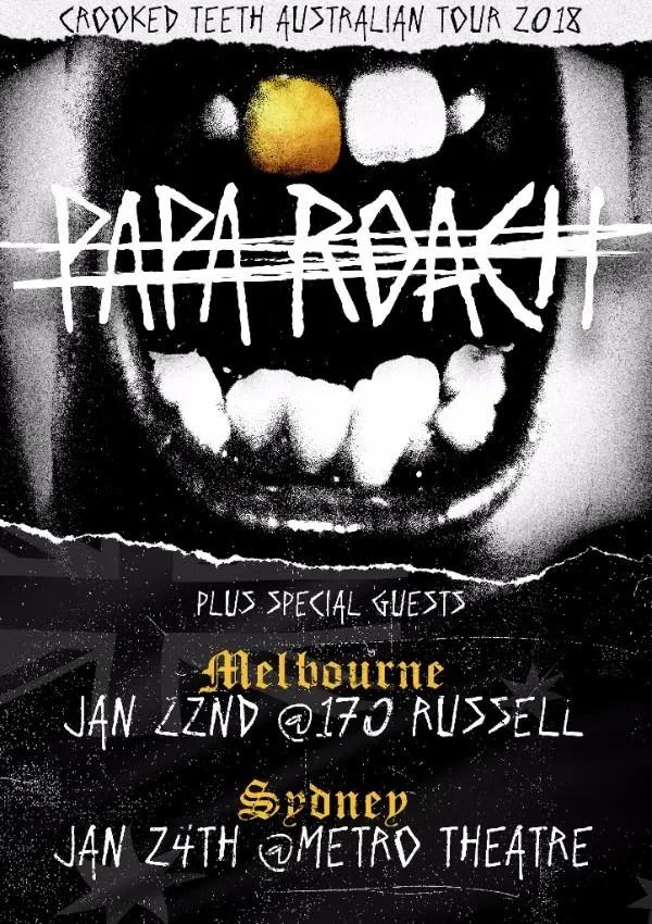 Papa Australia - GIG REVIEW: Papa Roach & Chelsea Rockwells Live At The Tivoli, Brisbane
