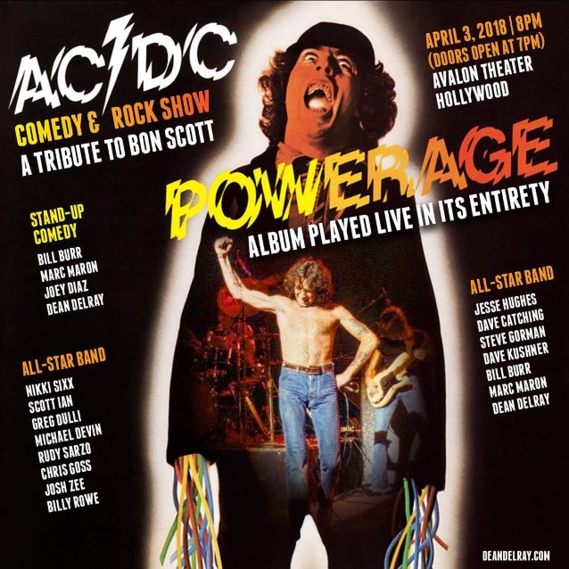 ACDCTribute - Nikki Sixx, Scott Ian & Rudy Sarzo To Perform AC/DC's Entire 'Powerage' Album At 'A Tribute To Bon Scott'