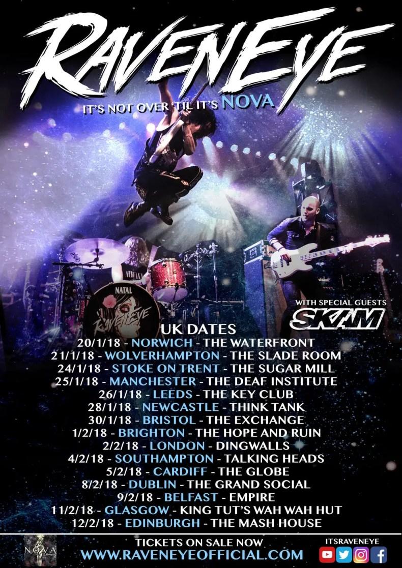 RAVEN EYE POSTER - GIG REVIEW: Raven Eye, Skam & Wolff Live at The Grand Social, Dublin