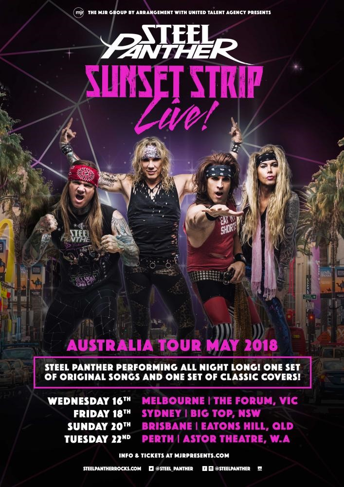 Steel Aus - GIG REVIEW: An Evening With STEEL PANTHER Live at Eatons Hill Hotel, Brisbane