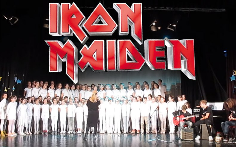 iron maiden choir - Watch Elementary School Choir Cover IRON MAIDEN's Fear Of The Dark