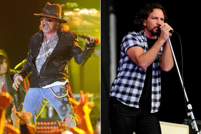 Axl Rose Eddie Vedder - GUNS N' ROSES Manager Reveals How PEARL JAM Brutally Turned Down An Offer to Play Shows Together