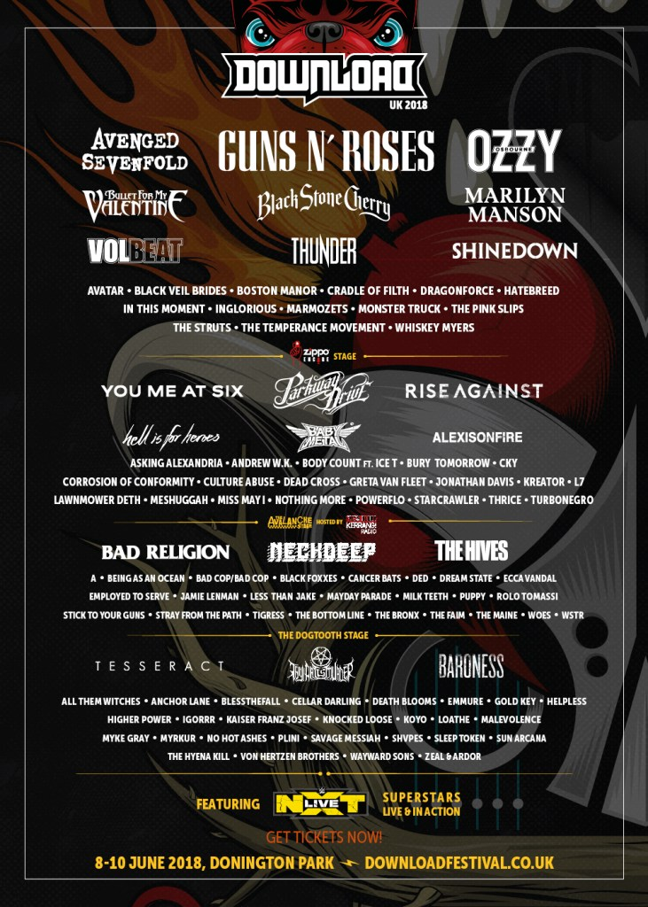 Download 2018 731x1024 - FESTIVAL REPORT: Download Festival Announces 21 More Bands + Ready To Rumble With WWE NXT