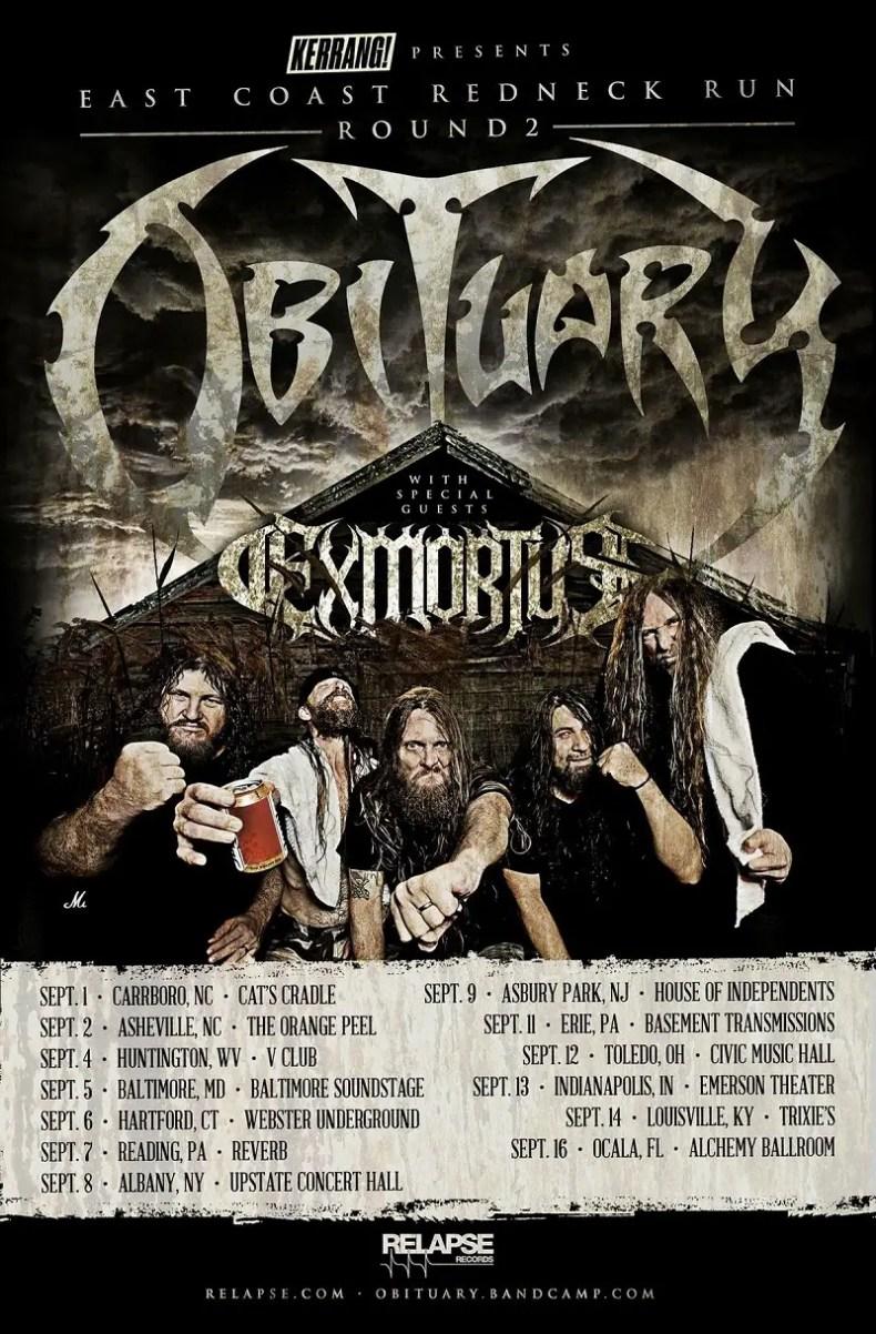 Obituary Exmortus - GIG REVIEW: OBITUARY & EXMORTUS Live at Civic Music Hall, Toledo, OH