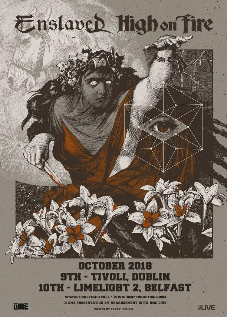 enslaved - GIG REVIEW: Enslaved, High On Fire & Krakow Live at The Tivoli Theatre, Dublin