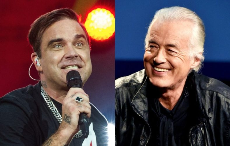 Robbie Williams Jimmy Page - Robbie Williams Has Reportedly Been Dressing Up as Robert Plant & Blasting Black Sabbath to Annoy His Neighbor, Jimmy Page