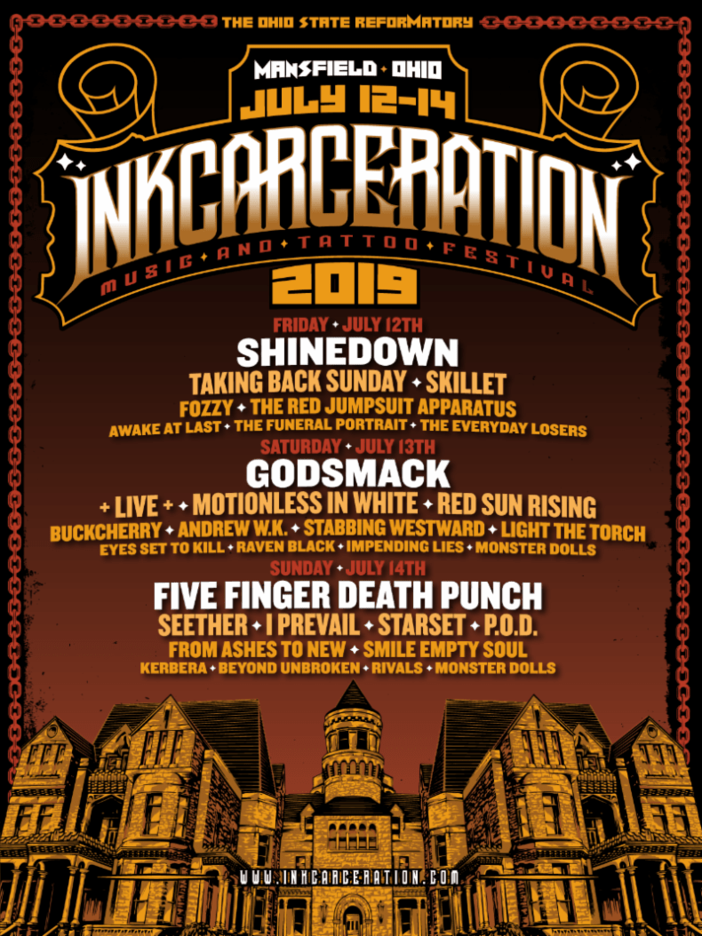 Ink - FESTIVAL REPORT: INKCARCERATION Music & Tattoo Festival Announce Complete Lineup + Single Day Tickets