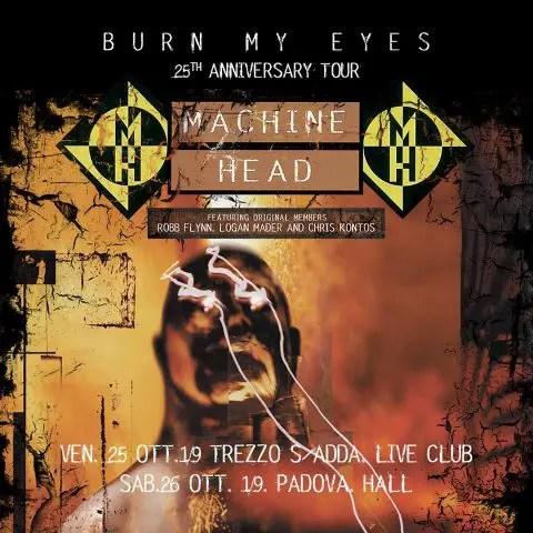 machineheaditaly - MACHINE HEAD Reunite With 'Burn My Eyes' Lineup For 25th Anniversary Tour