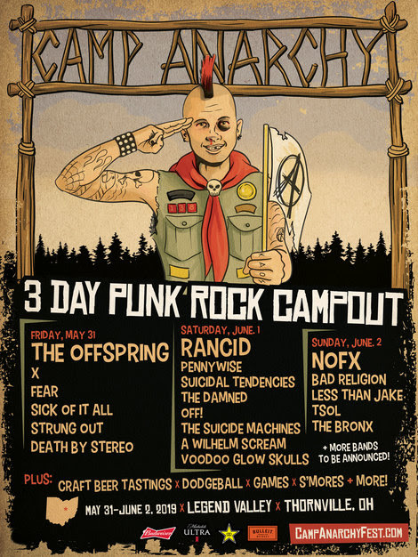 CA 2019 - FESTIVAL REPORT: CAMP ANARCHY - 3 Day Punk Rock Campout Lineup Is Officially Announced