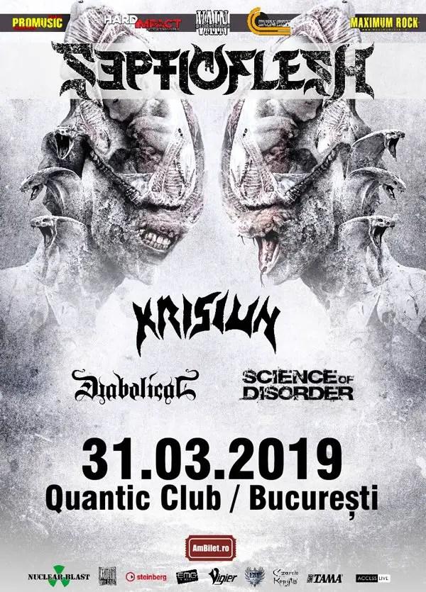septicflesh postergig - GIG REVIEW: Septicflesh, Krisiun & Diabolical Live At Quantic Club, Bucharest