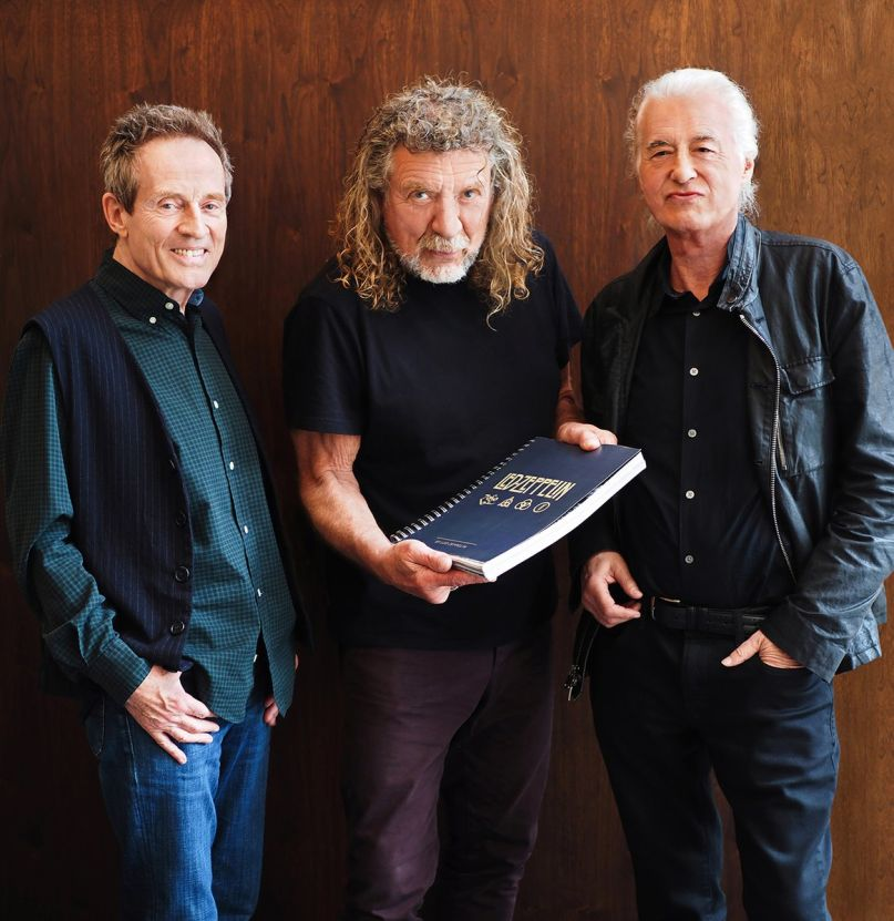 led zeppelin - Surviving LED ZEPPELIN Members Share a Reunion Photo