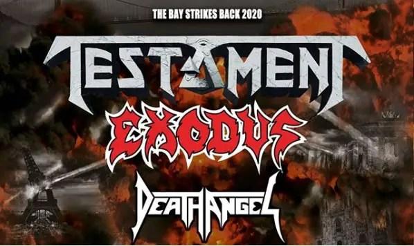 Testament Exodus Tour - Get Ready For 'The Bay Strikes Back' Tour Featuring Testament, Exodus & Death Angel