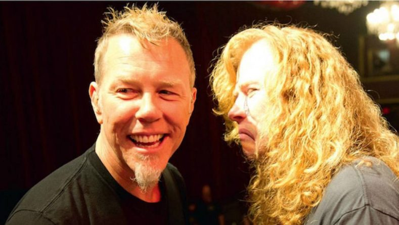 """Dave Mustaine e James Hetfield - Dave Mustaine on Reconnecting With James Hetfield During Ongoing Cancer Diagnosis: """"He Stood Next To Me"""""""