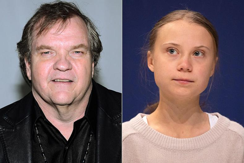 Meat Loaf Greta Thunberg - GRETA THUNBERG Reacts To MEAT LOAF's 'Brainwashed' Comment