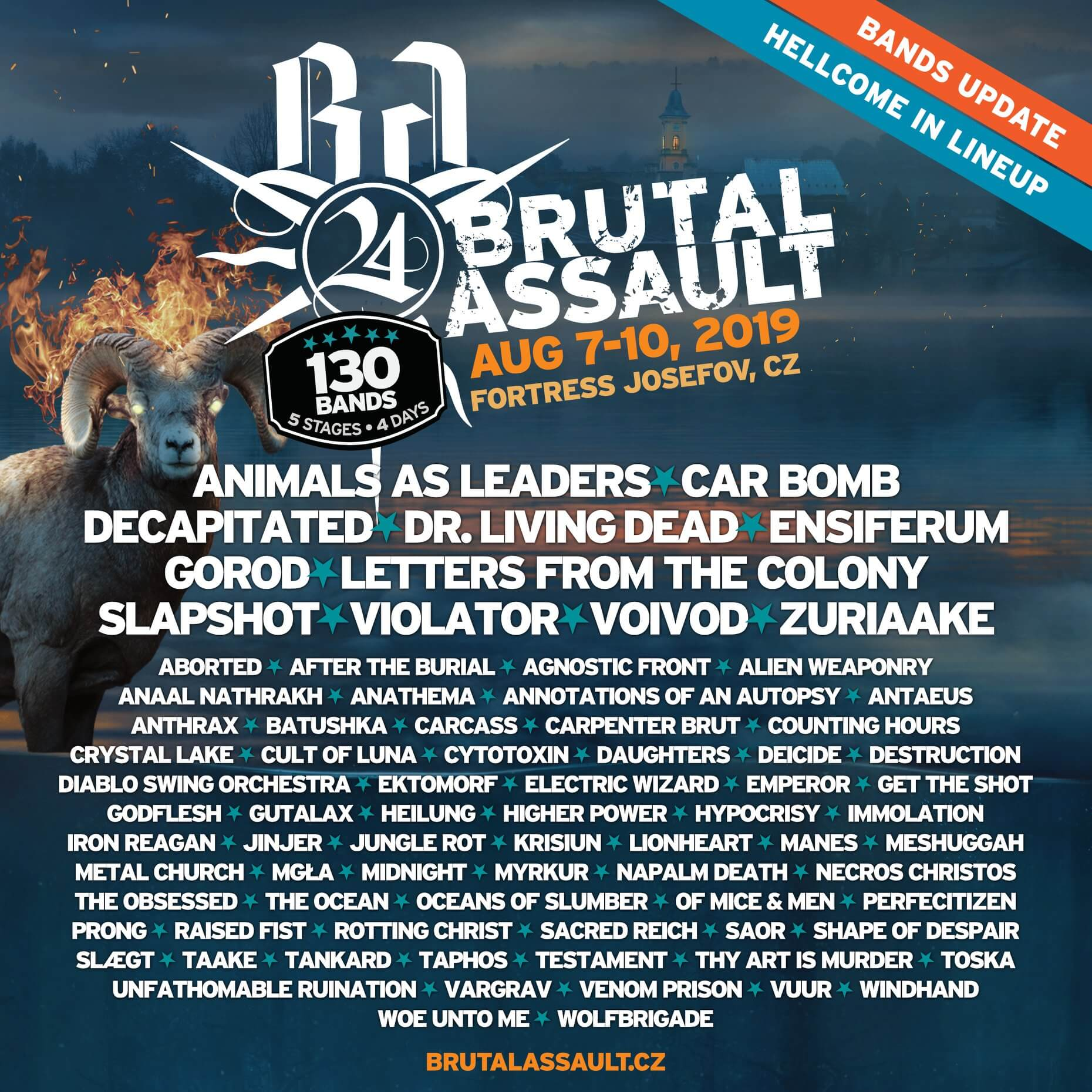 Brutal Assault announcement Jan 9