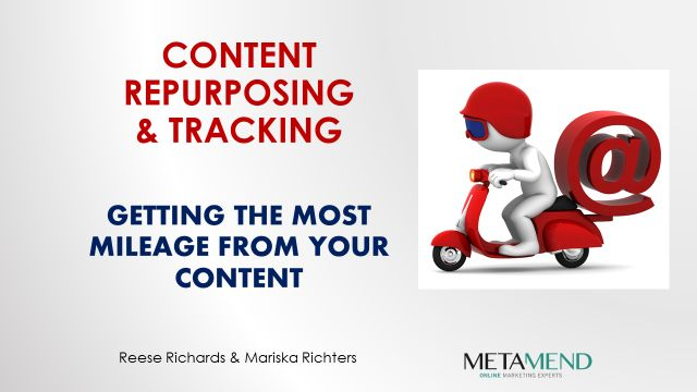Content Marketing - Repurposing and Tracking - Slide1