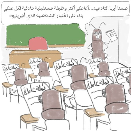 اختبار الشخصية في المدرسة - كرتون لرفاييل لايساندر