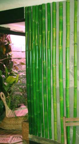 Mur de bambous