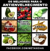 Os melhores alimentos contra o antienvelhecimento.