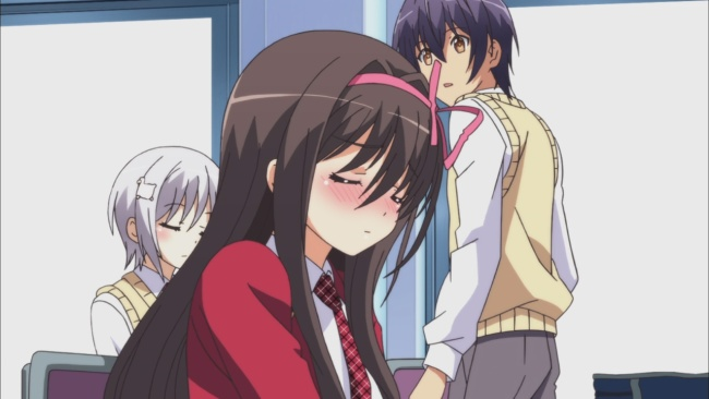 Ouka and Furano embarrassed