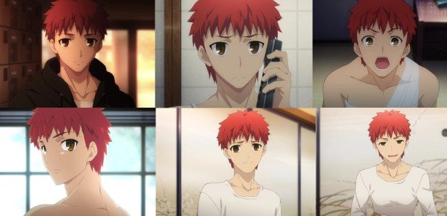 Fate stay night Unlimited Blade Works 4-Shiro faces