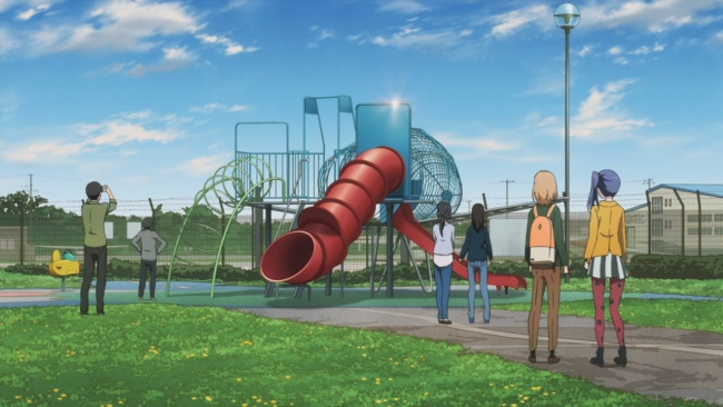 Shirobako-Playing in the park