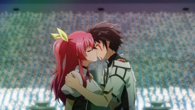 Rakudai Kishi - Finally the public kiss