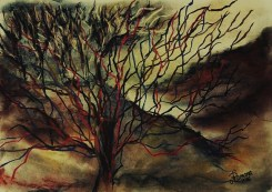 untitled - autumn inspired (soft pastels on paper)
