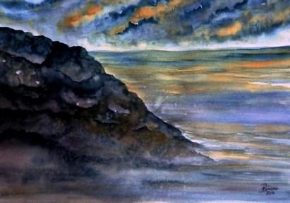 BENEATH STILL WATERS (watercolour)